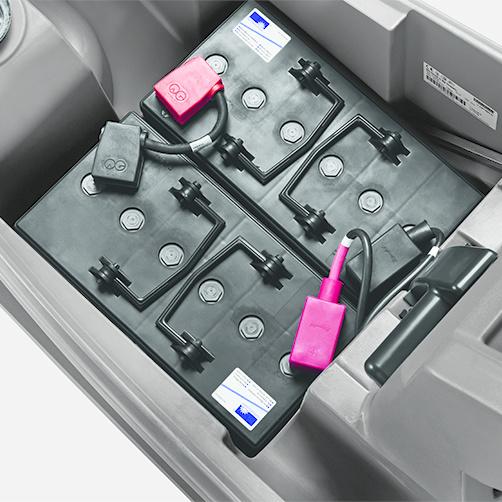 BD 43/25 C Bp: Możliwość montowania różnych typów baterii.
