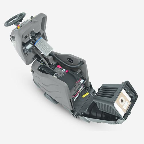 CV 60/2 RS: Pełne otwarcie pokrywy urządzenia