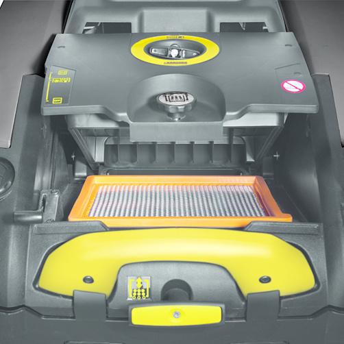 KM 75/40 W Bp: Bardzo sprawny system filtracji z mechanicznym oczyszczaniem