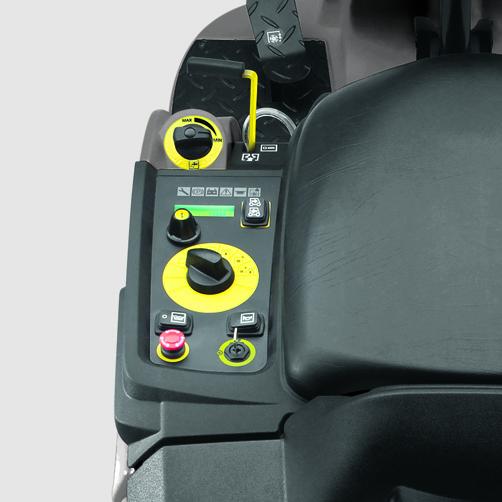 szorowarka-z-fotelem-dla-operatora-karcher-b-90-r-classic-bp-1.161-306.1: Małe, kompaktowe urządzenie czyszczące.