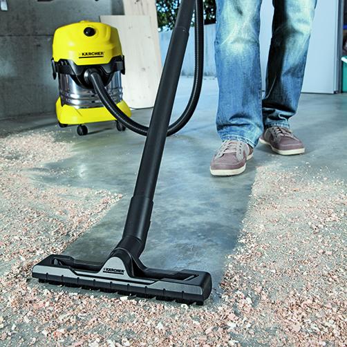Odkurzacz uniwersalny WD 4 Premium: Nowo opracowana ssawka do podłogi i rura ssąca.